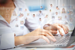Business technologies today Stock Photography
