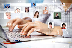 Business technologies today Stock Images