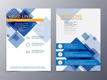Business and technology brochure design template vector vector illustration
