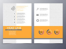 Business and technology brochure design template vector Royalty Free Stock Photo