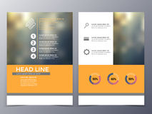 Business and technology brochure design template vector Stock Photos