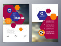Business and technology brochure design template vector Stock Photography