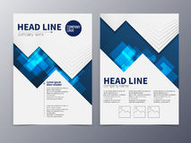 Business and technology brochure design template vector tri-fold Stock Images