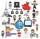 Business Technology Cartoon Vector Graphics. Illustration Royalty Free Stock Photos