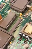 Business technology chip. Image of chips in a circuit of a component of a computer Stock Image