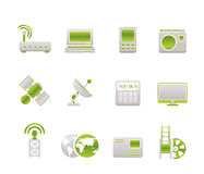 Business, technology, communications icons. Icon set Stock Photo
