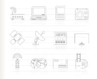 Business, technology  communications icons Stock Images