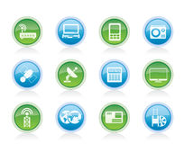 Business, technology  communications icons Stock Photography