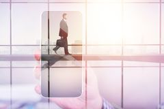 Business and technology concept Royalty Free Stock Images