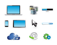 Business technology concept icon set Stock Photos