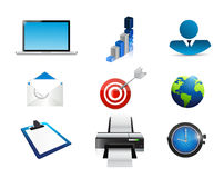 Business technology concept icon set Stock Image