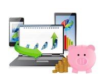 Business technology concept Stock Photos