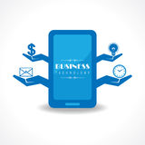 Business technology concept with mobile Royalty Free Stock Photo
