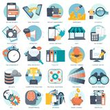 Business, technology and finances icon set for websites and mobile applications and services. Flat vector. Illustration Stock Photo