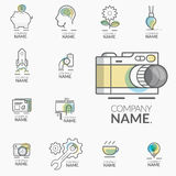 BUSINESS, TECHNOLOGY and FINANCIAL ICONS Stock Photography