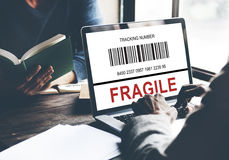 Business Technology Fragile Tracking Number Concept Stock Photography