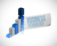 business technology graph illustration Stock Photography