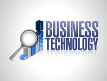 Business technology graph review Stock Photo