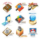 Business technology headers Royalty Free Stock Image