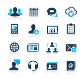 Business Technology Icons Azure Series Royalty Free Stock Photography