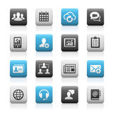 Business Technology Icons, Matte Series Stock Photography