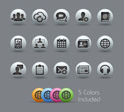 Business Technology Icons Pearly Series Royalty Free Stock Photo