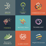 Business and technology icons set. Abstract business and technology icons set Stock Images