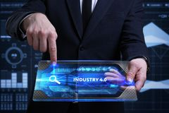 Free Business, Technology, Internet And Network Concept. Young Busine Royalty Free Stock Photos - 119889408