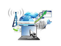 Business technology internet concept Royalty Free Stock Photography