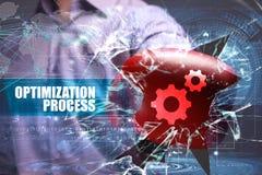 Business. Technology. Internet. Marketing. Optimization process Royalty Free Stock Photography