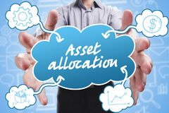 Business, Technology, Internet and marketing. Young businessman. Thinking about: Asset allocation Stock Photo