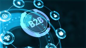 Business, Technology, Internet and network concept. B2B Business company commerce technology marketing concept