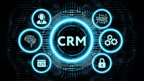 Business, Technology, Internet and network concept. CRM Customer Relationship Management