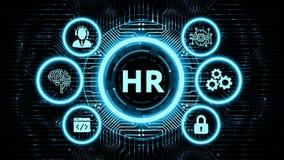 Business, Technology, Internet and network concept. Human Resources HR management concept