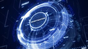 Business, Technology, Internet and network concept. Virtual button labeled: Investigation