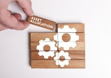 Business, Technology, Internet and network concept. Young businessman shows the word: Asset allocation stock images
