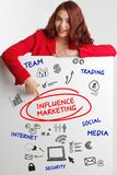 Business, Technology, Internet and network concept. Young businessman shows the word: Influence marketing - Image stock image