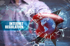 Business, Technology, Internet and network security. Internet Re Stock Image