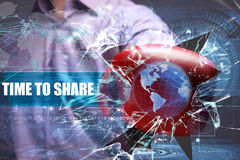 Business, Technology, Internet and network security. time to sha Royalty Free Stock Images