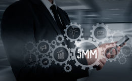Business, technology, internet and networking concept. SMM - Social Media Marketing on the virtual display. Stock Image