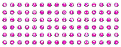 Business and technology internet violet icons Royalty Free Stock Image