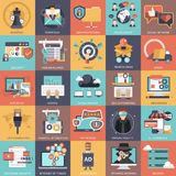 Business, technology, management and finances icon set collection. Stock Illustration
