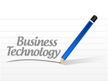 Business technology message sign Royalty Free Stock Photos