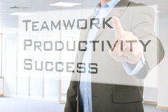 Business, technology and networking concept Stock Photography