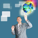 Business and Technology.New information technology Stock Photo
