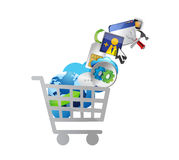 Business technology shopping concept illustration. Isolated over white Stock Image