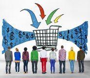 Business Technology Shopping Online Browsing Concept Royalty Free Stock Photography