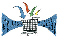 Business Technology Shopping Online Browsing Concept.  Stock Image