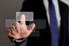 Business technology. Smart interface of business technology Royalty Free Stock Photography