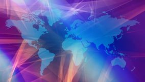 Business technology world inspiration animation. Breaking tv news world map intro concept, abstract background stock footage